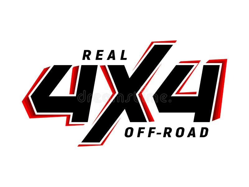 внедорожный логотип suv эмблемы 4x4 иллюстрация штока