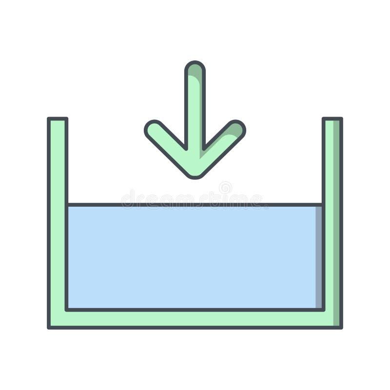 Внизу на уровне моря значок вектора бесплатная иллюстрация