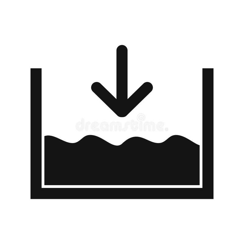 Внизу на уровне моря значок вектора иллюстрация вектора