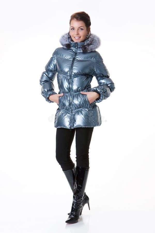 вниз женщина куртки стоковое фото rf