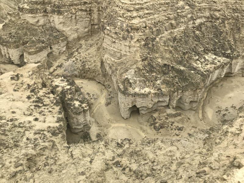 Вниз каньоны взгляда на каботажном судне Makran национального парка стоковое фото