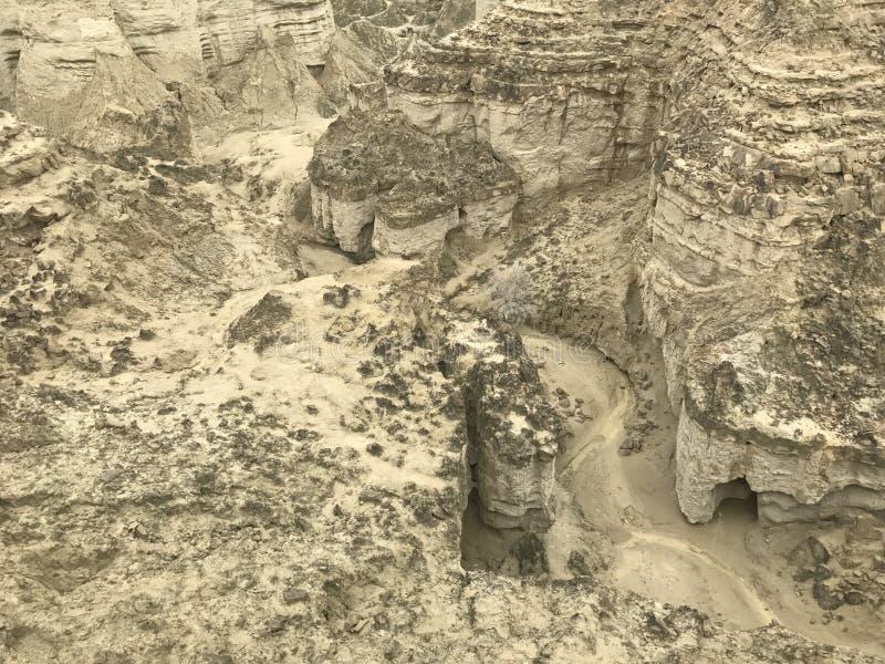Вниз каньоны взгляда на каботажном судне Makran национального парка стоковая фотография rf