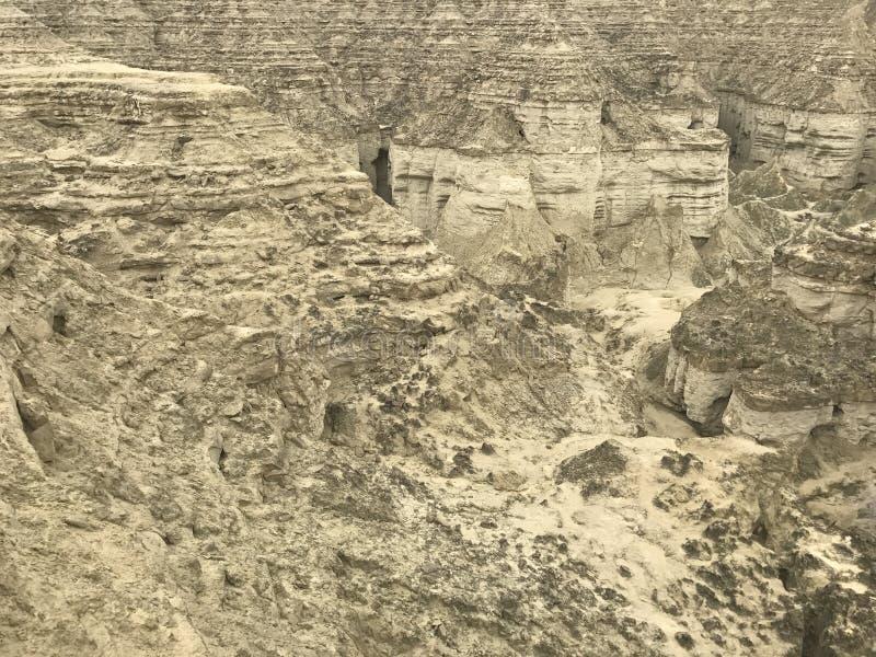 Вниз каньоны взгляда на каботажном судне Makran национального парка стоковое изображение rf