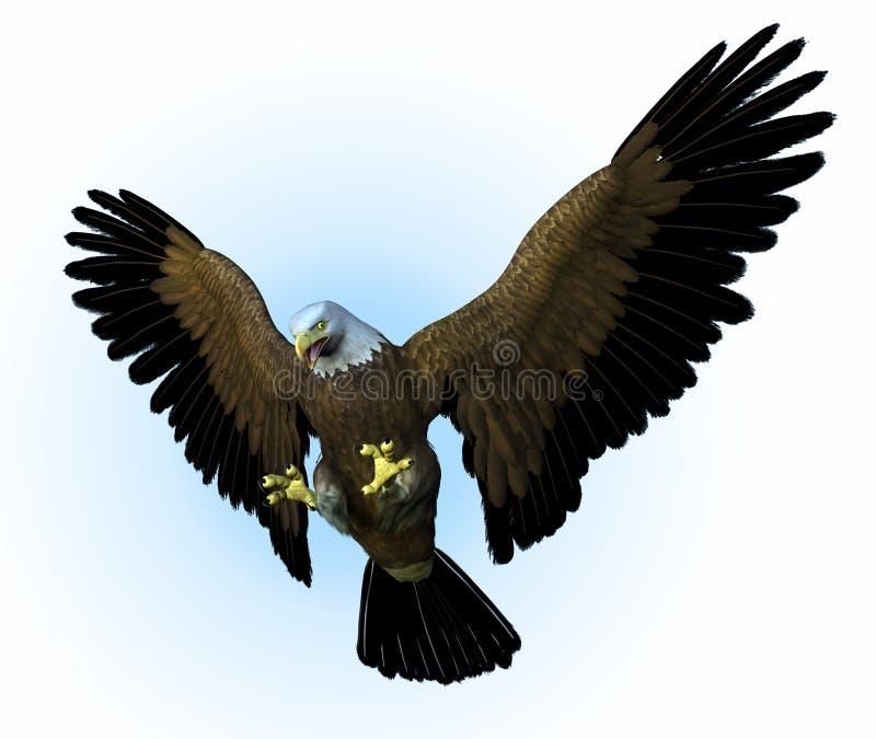 вниз орел включает swooping иллюстрация вектора