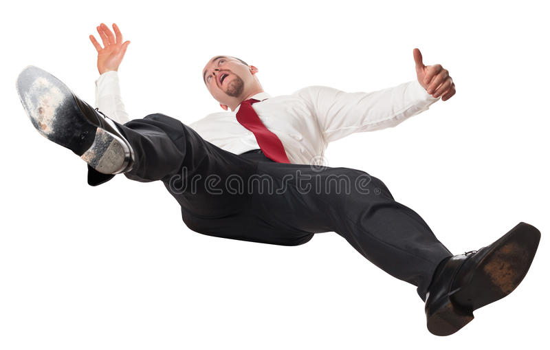вниз падая человек стоковое изображение rf