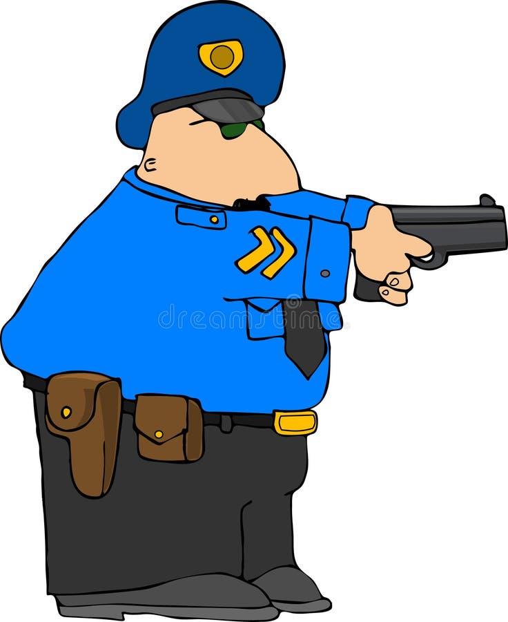вниз полиции притяжки иллюстрация штока