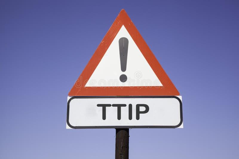 Внимание TTIP стоковое изображение