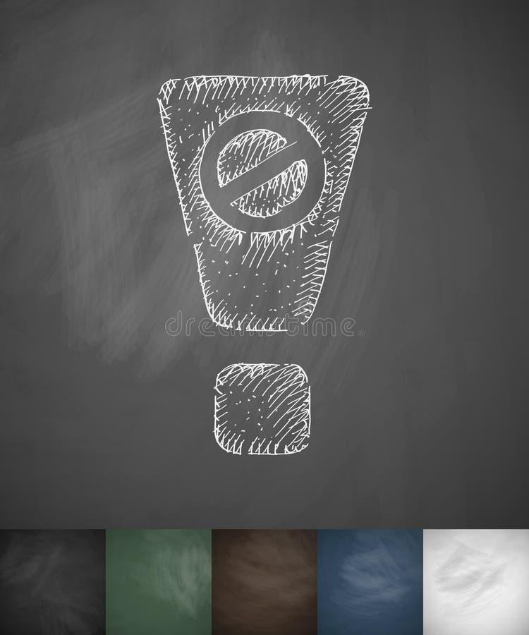 вниманиях запрещенный значок Нарисованная рукой иллюстрация вектора иллюстрация штока