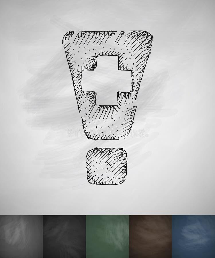 вниманиях Значок добавлению Нарисованная рукой иллюстрация вектора бесплатная иллюстрация