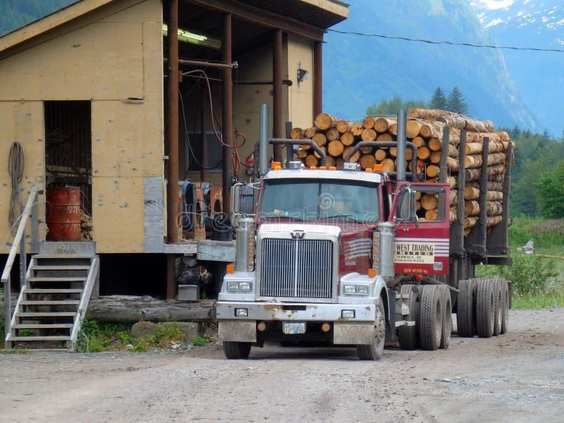 Внося в журнал индустрия в Британской Колумбии стоковое фото