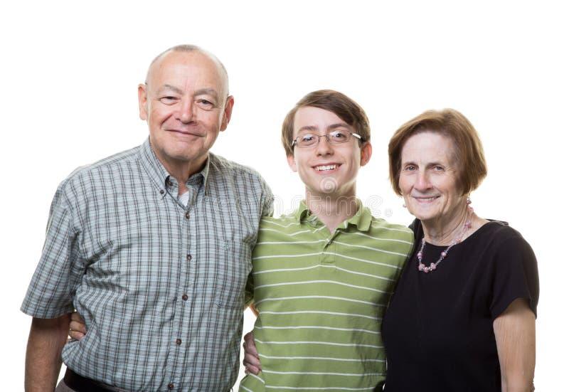 Внук с дедами стоковые фотографии rf