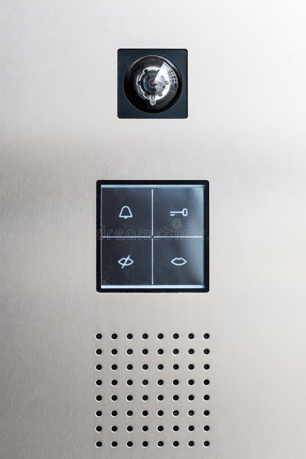 Внутренная связь двери с камерой, управлением доступом стоковые изображения