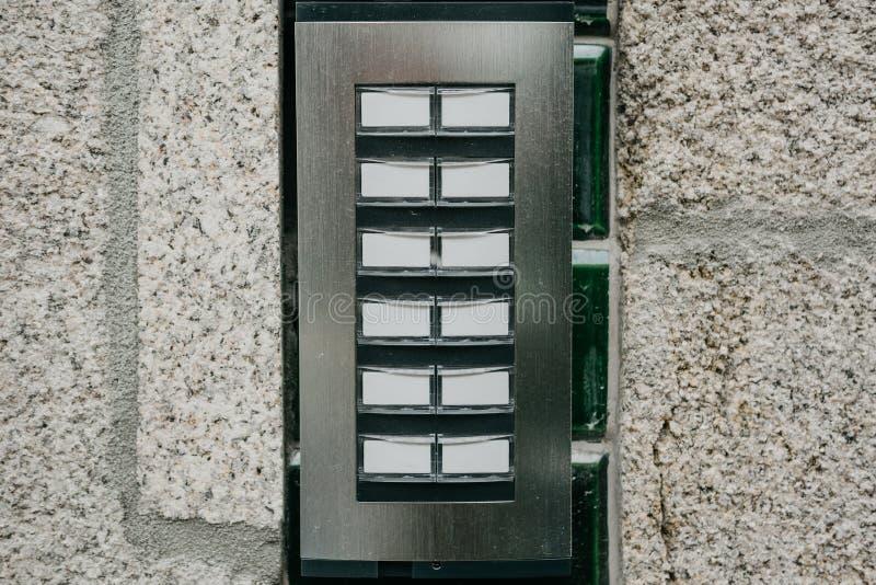 Внутренная связь на входе к жилому дому стоковые изображения
