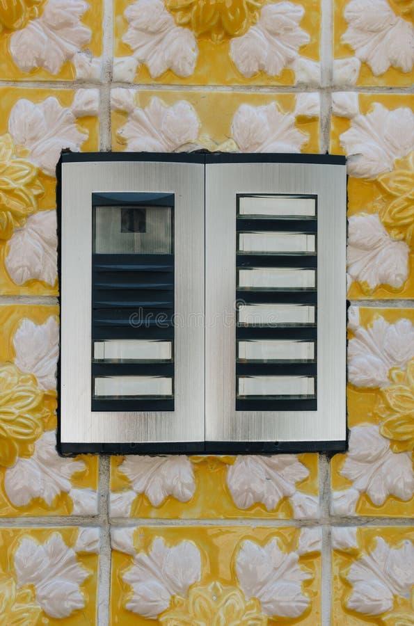 Внутренная связь на картине Azulejos керамических плиток стоковое фото