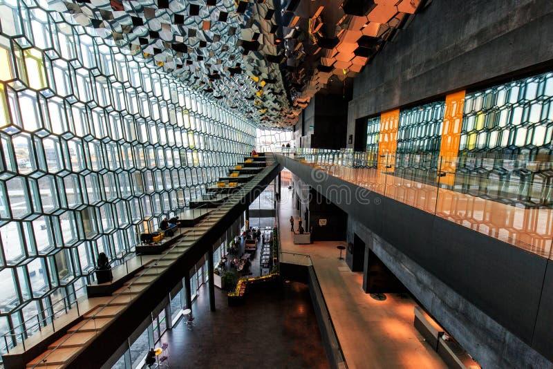 Внутреннее Harpa стоковая фотография rf