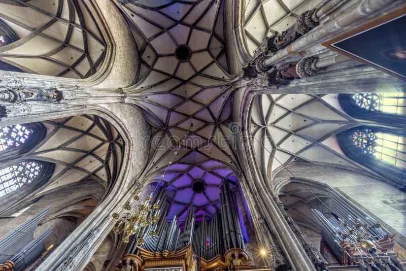 Внутреннее St Stephen & x27; собор s, вена Австралии стоковое фото rf