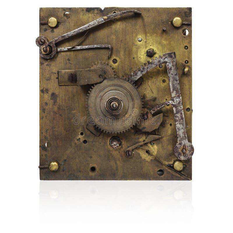 Внутренние деятельности старомодных часов стоковые изображения rf