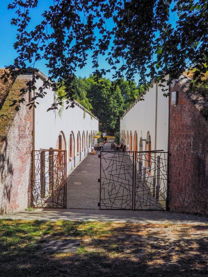 Внутренние здания публично доступной крепости Duffel стоковые фотографии rf