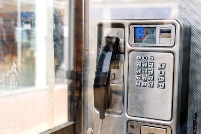 Внутренний блок телефона телефонной будки BT стоковое изображение rf