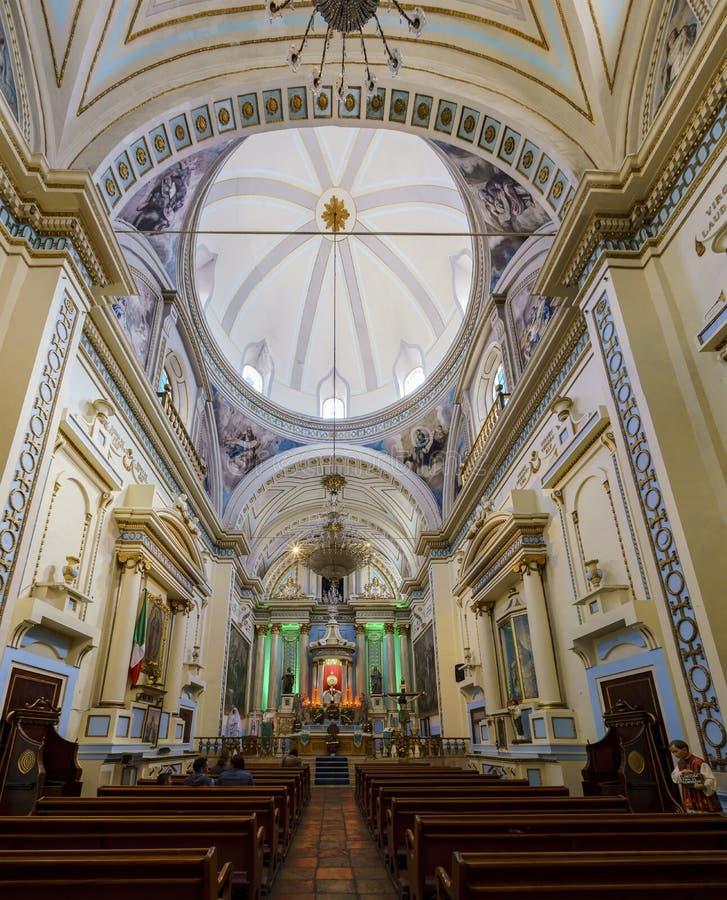 Внутренний взгляд виска Ла Санты Веры Cruz de Ла Согласия стоковая фотография