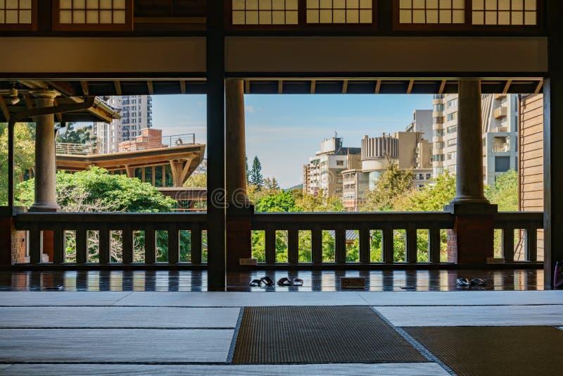 Внутренний взгляд музея горячего источника Beitou стоковое изображение rf