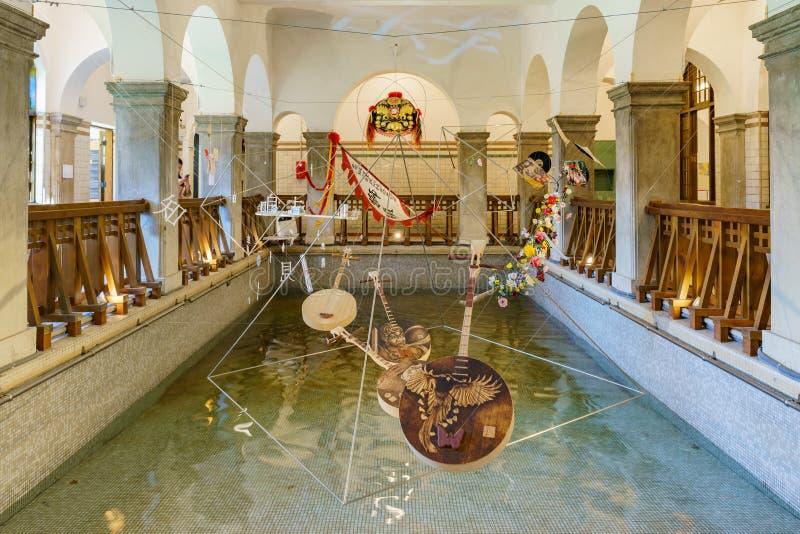 Внутренний взгляд музея горячего источника Beitou стоковые фотографии rf
