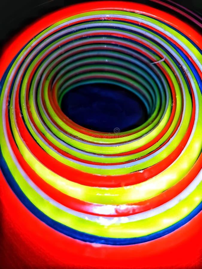 Внутренний взгляд стога очень красочных sporty конусов стоковые фотографии rf