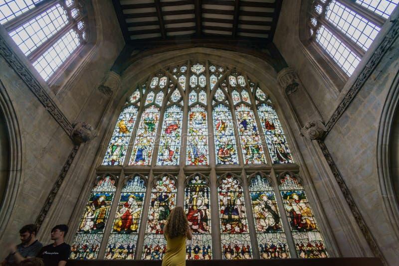 Внутренний взгляд церков университета St Mary девственница стоковые фото