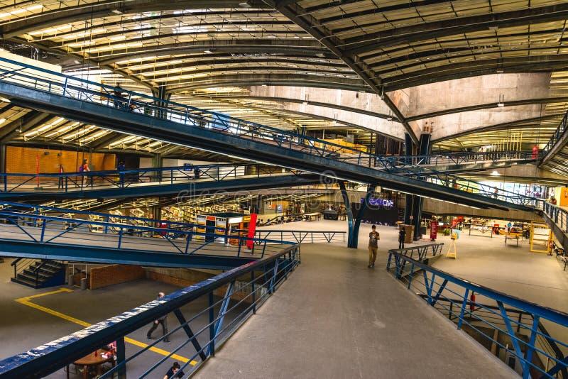 Внутренний взгляд Centro культурного São Paulo, CCSP, в São p стоковые изображения rf