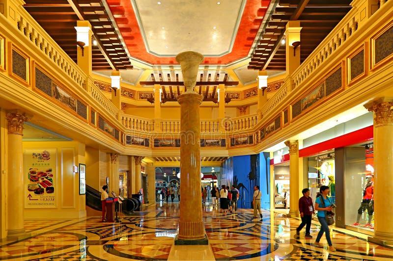 Внутренний взгляд венецианской гостиницы, Макао стоковое изображение