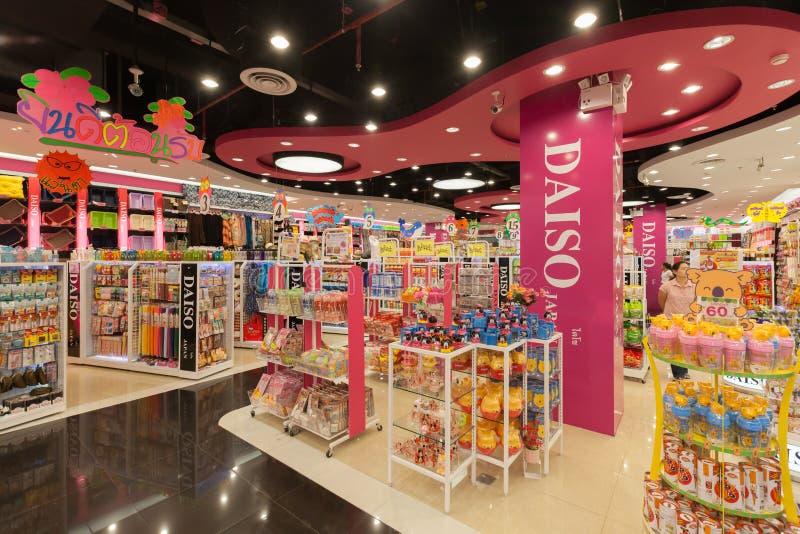 Внутренний взгляд магазина Daiso стоковое фото