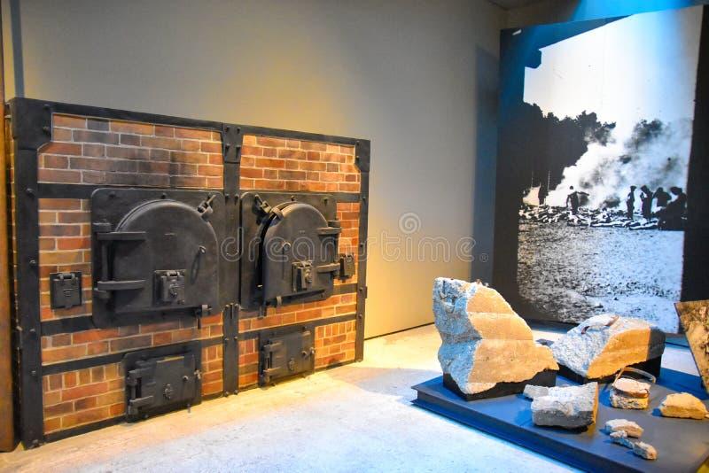 Внутренний взгляд музея холокоста мемориального, в DC Вашингтона, США стоковое фото rf