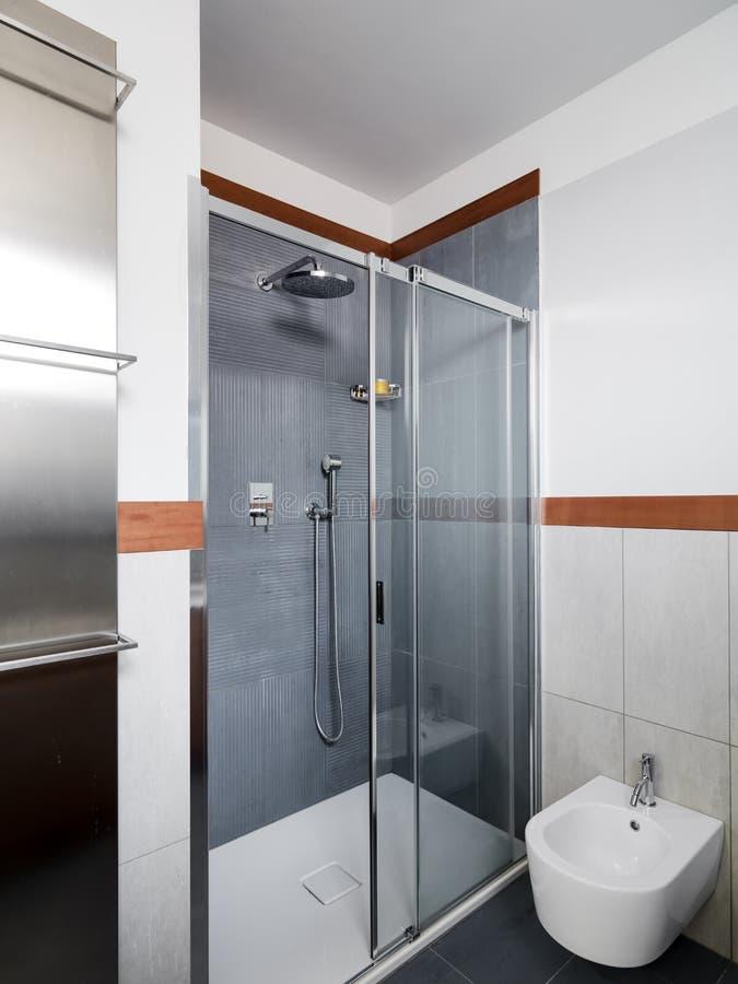 Внутренний взгляд современной ванной комнаты стоковые изображения