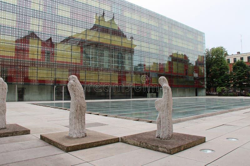 Внутренний двор изобразительных искусств des Palais - Лилль - Франция стоковое изображение rf