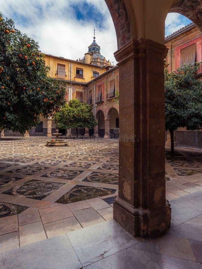Внутренний двор больницы Сан-Хуана De Dios 12 стоковое изображение rf