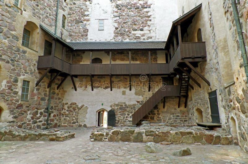 Внутренний двор замка Турку, одного из самых старых зданий все еще в пользе в Финляндии, Скандинавия стоковые фото