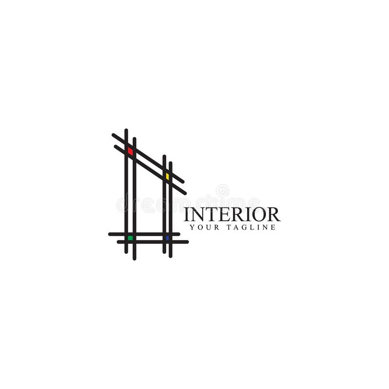 Внутренний дизайн логотипа, шаблон вектора бесплатная иллюстрация