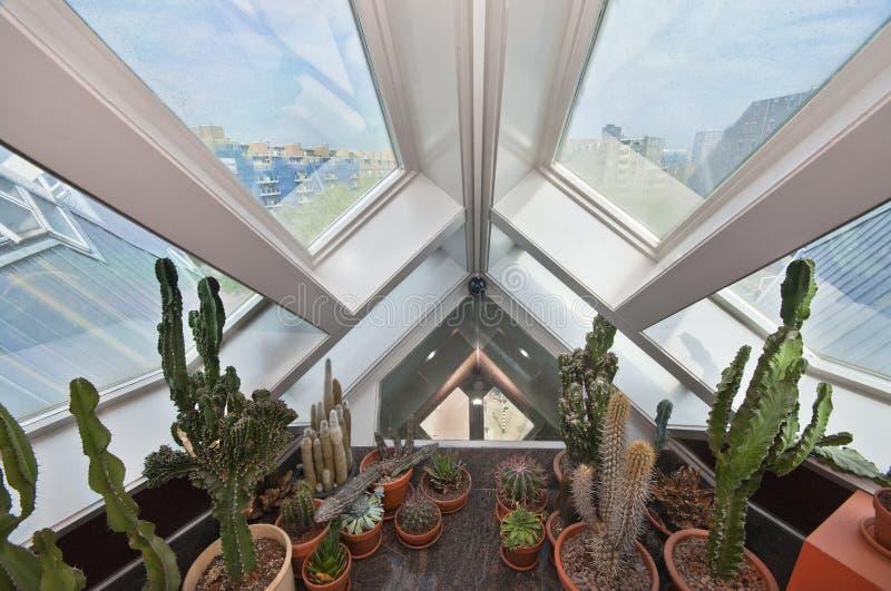 Внутренний кубический дом стоковая фотография rf