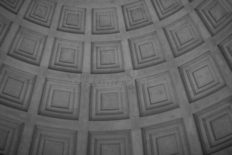 Внутренний купол мемориала Jefferson стоковое изображение rf