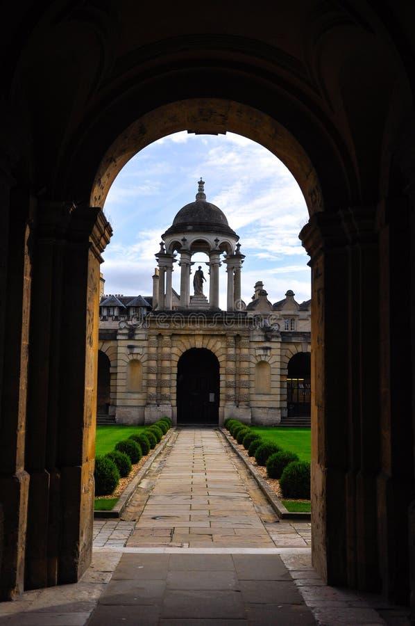 Внутренний Оксфордский университет стоковое изображение rf