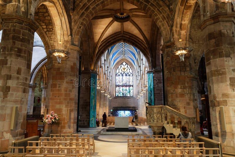 Внутренний собор Святого Джайлса - Эдинбург, Шотландия стоковые изображения