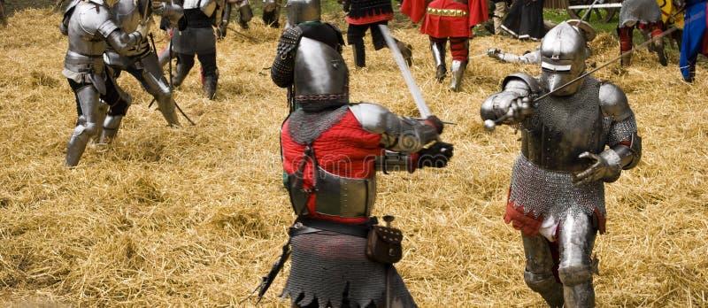 внутренний средневековый рукопашный бой стоковая фотография