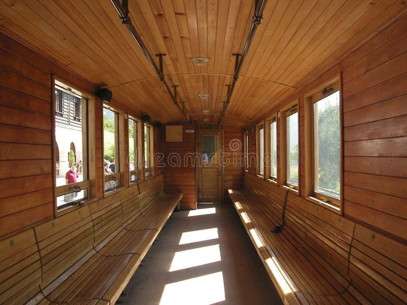 внутренний старый поезд стоковые фото