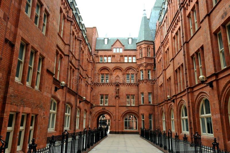 Внутренний суд Адвокатур Holborn, или благоразумное обеспечение строя красное терракотовое викторианское здание стоковая фотография rf