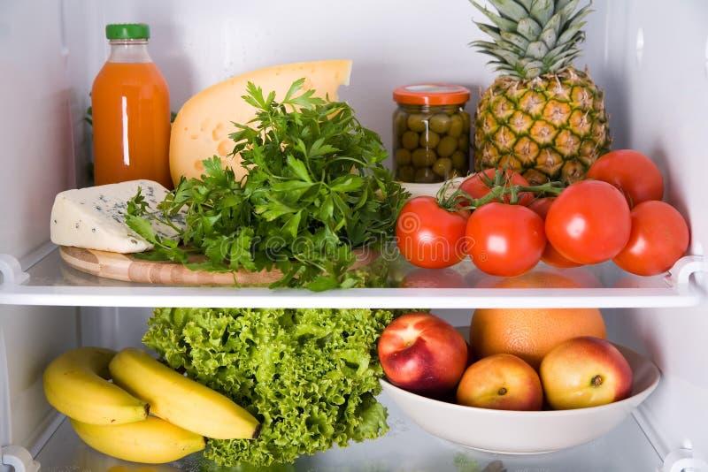 внутренний холодильник стоковые фото