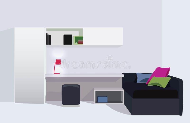 Внутренний шарж живущей комнаты иллюстрация штока