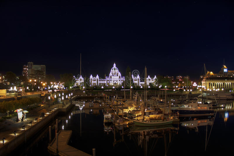 Внутренняя гавань Виктория зданий парламента BC стоковые изображения