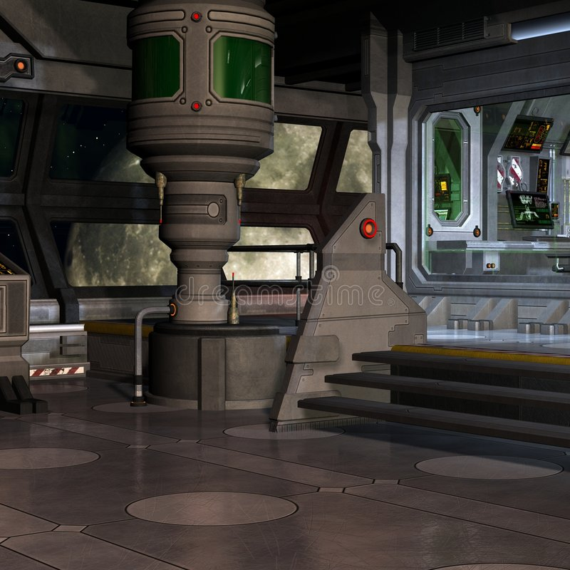 внутренняя космическая станция иллюстрация штока
