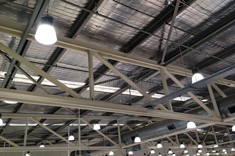 Внутренняя крыша склада стоковое изображение