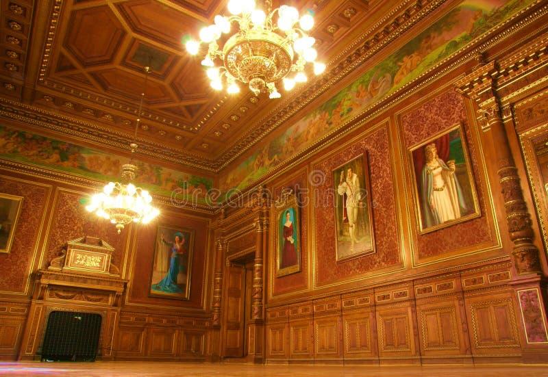 Внутренняя опера Будапешт стоковые фото